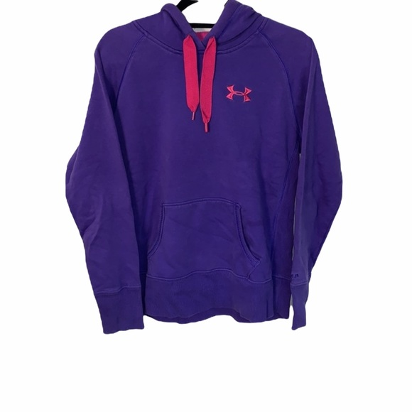 UNDER ARMOUR PURPLE HOODIE WITH PINK LOGO SIZE SMALL